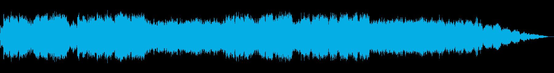 優しい笛の静かなヒーリング音楽の再生済みの波形