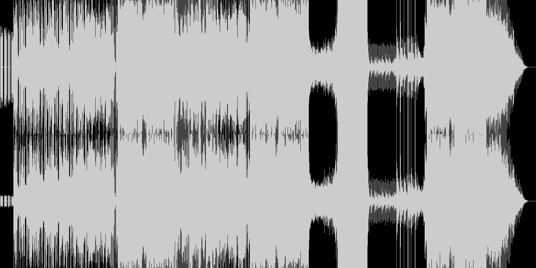 ソリッドなエレキギターの踊れるロック曲の未再生の波形