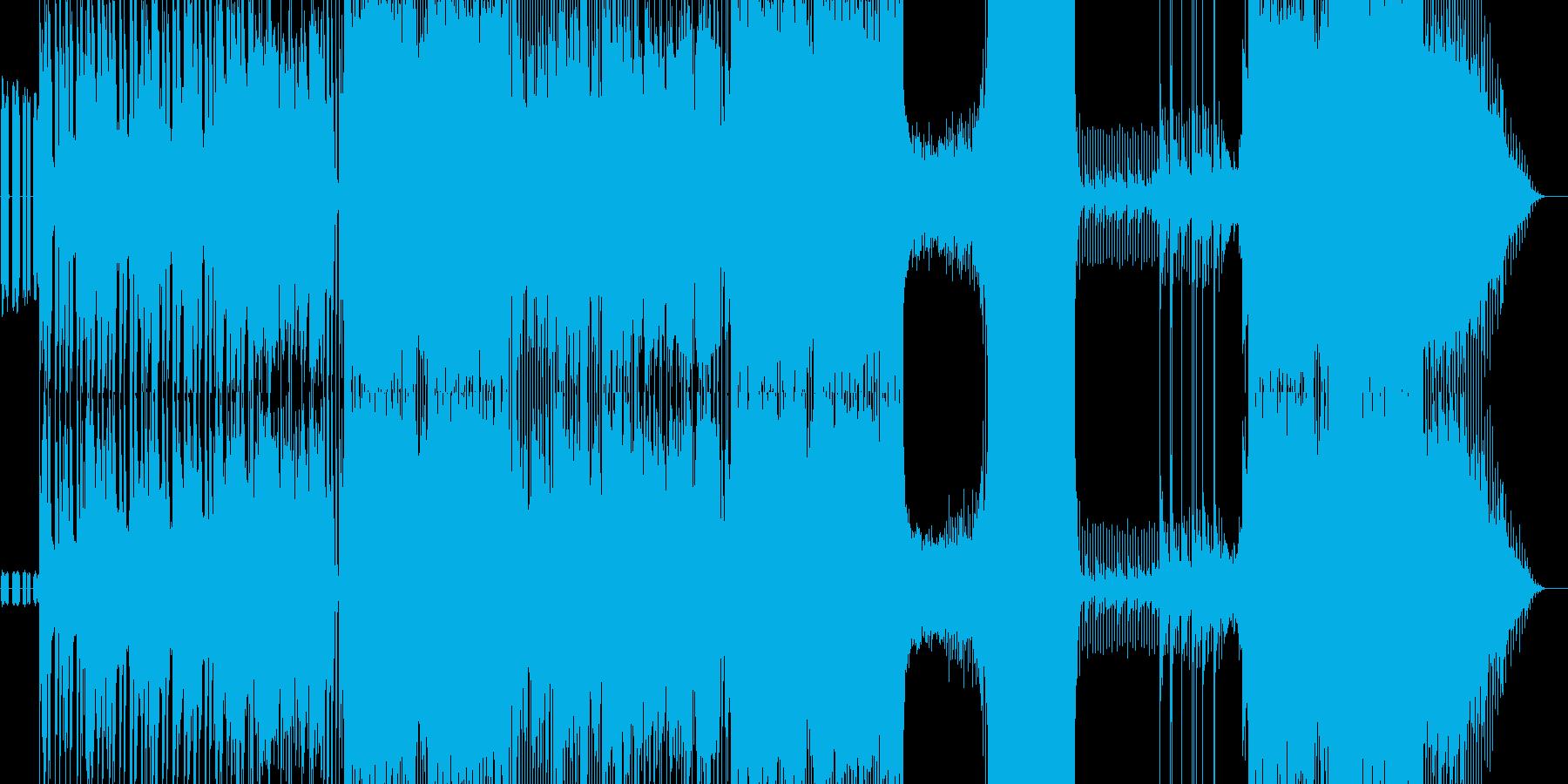 ソリッドなエレキギターの踊れるロック曲の再生済みの波形