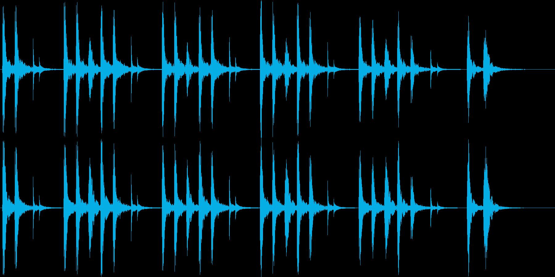リズミカルで楽しげなポップスの再生済みの波形
