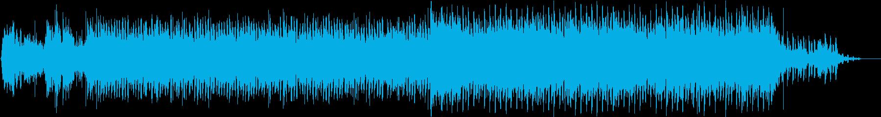 爽やかな未来テクノロジーデジタルサウンドの再生済みの波形