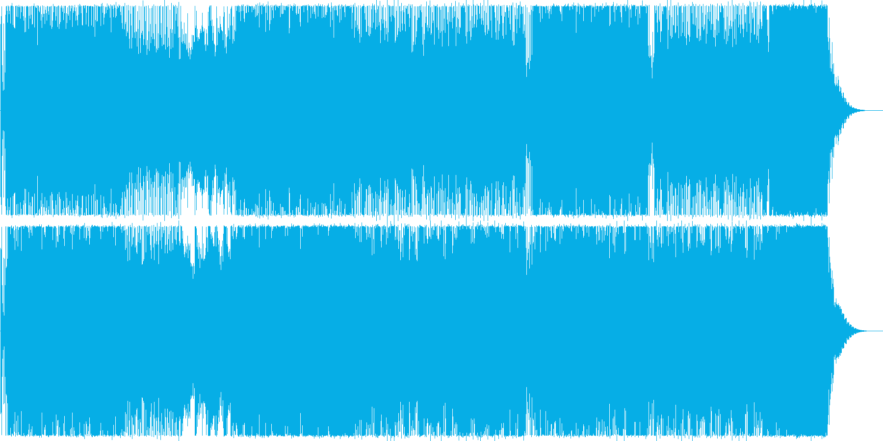 ハイテクでスピーディーなビートサウンドの再生済みの波形