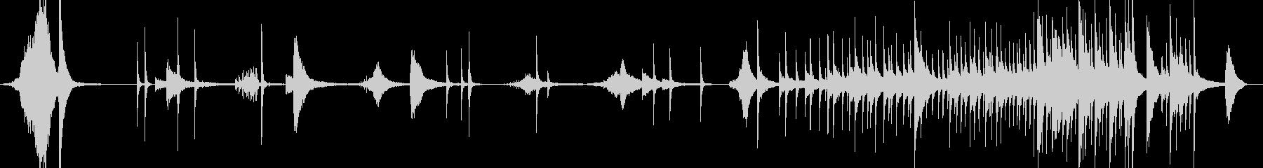 シンバル9大太鼓激しい合戦戦い戦闘打ち合の未再生の波形