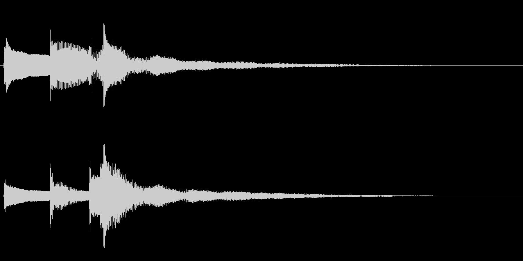 【生演奏】物悲しいピアノジングルの未再生の波形