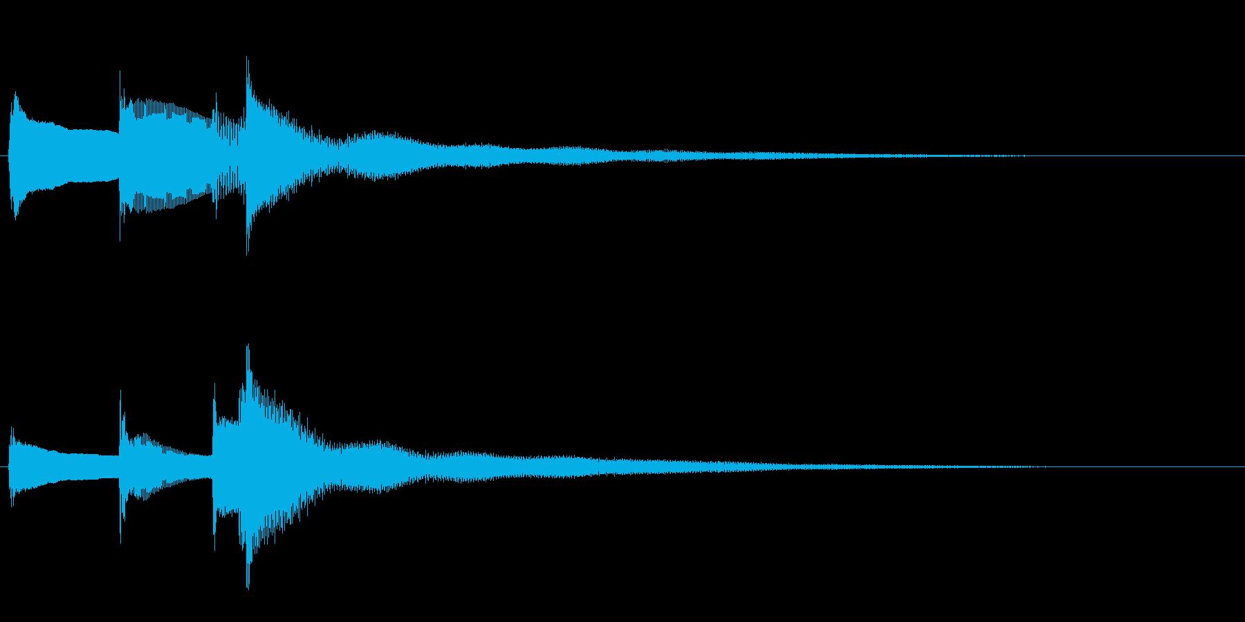 【生演奏】物悲しいピアノジングルの再生済みの波形