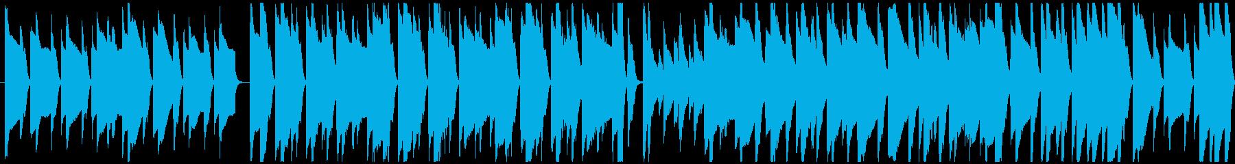 推理場面などをイメージしたピアノメイン曲の再生済みの波形