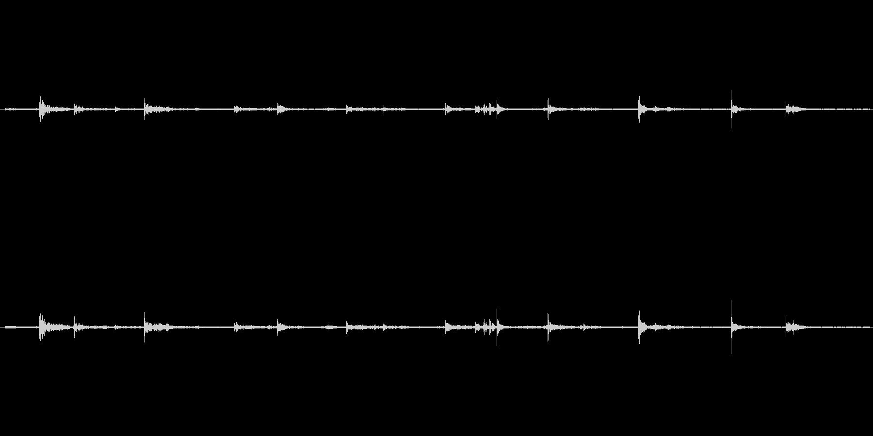 【生音】歩く・室内・スリッパ - 1 …の未再生の波形