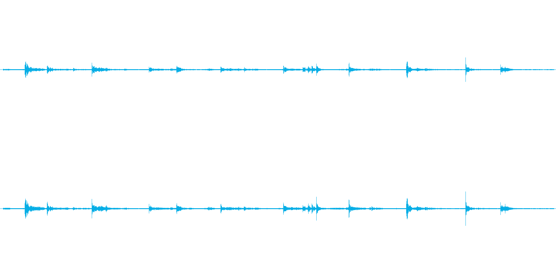 【生音】歩く・室内・スリッパ - 1 …の再生済みの波形