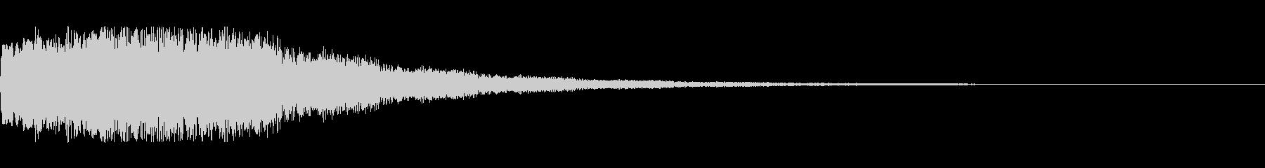 ポワポワした電子音 決定音の未再生の波形