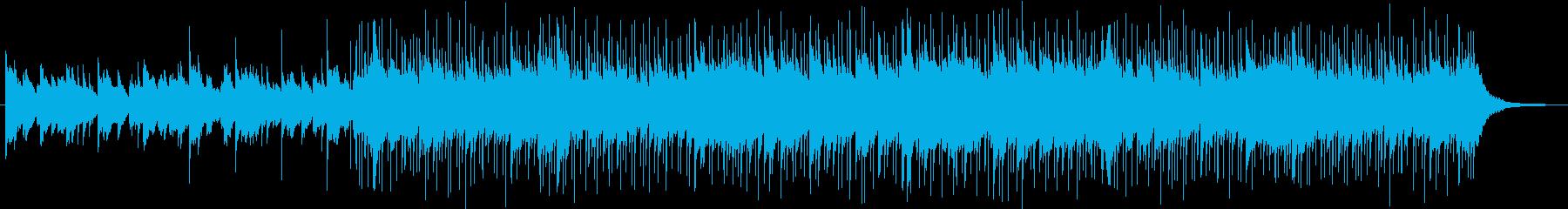 優しく前向きなピアノ劇判の再生済みの波形