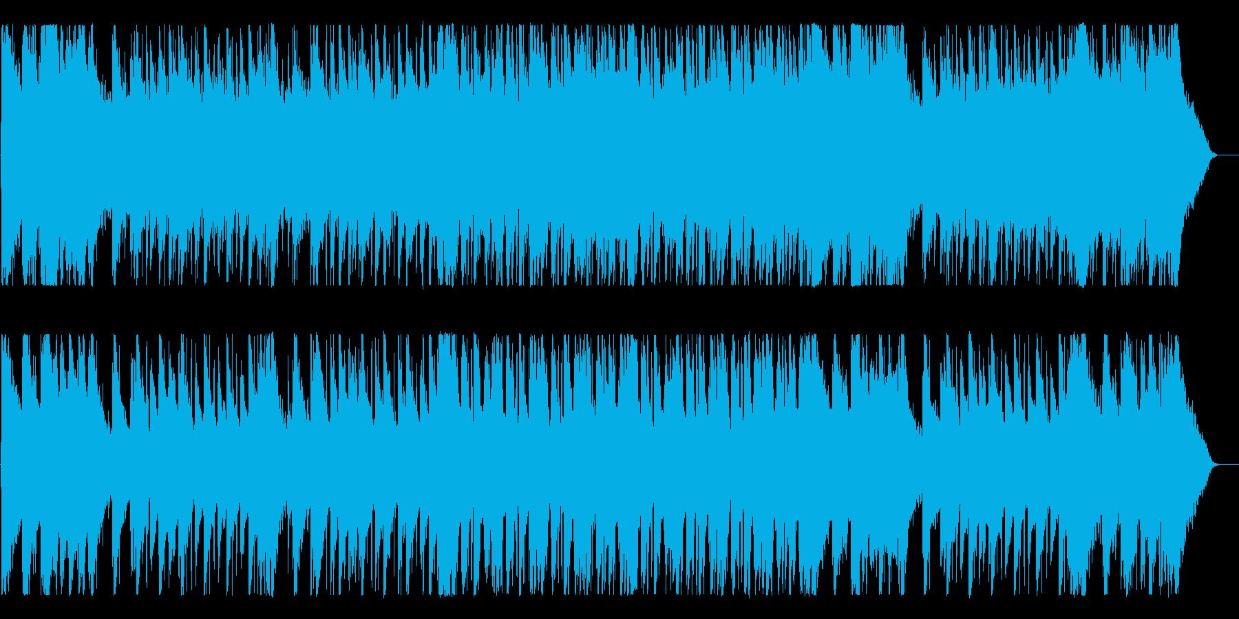 感動的で広がりを感じるBGMの再生済みの波形