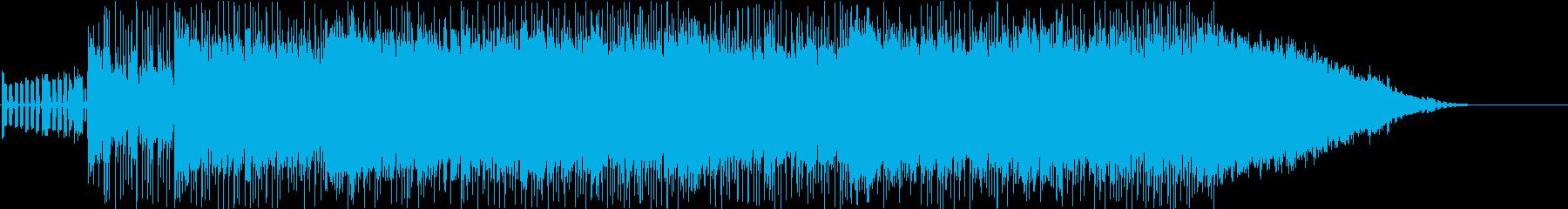 スピード感溢れるロックの再生済みの波形