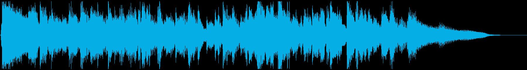 スタイリッシュなジャズジングル◆15秒の再生済みの波形