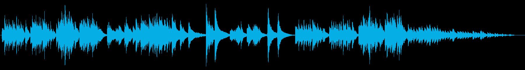 優しいメロディーのピアノバラードの再生済みの波形