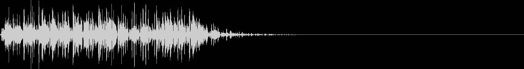 打撃音(マイナス_低音_ダメージ_長い)の未再生の波形