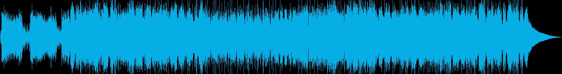 和風ロックテイストBGM 6/8拍子の再生済みの波形