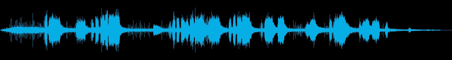 刈払機-操作の再生済みの波形