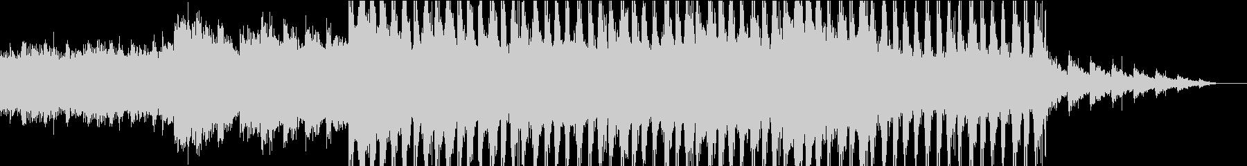 神秘的で怪しげなアンビエントの未再生の波形