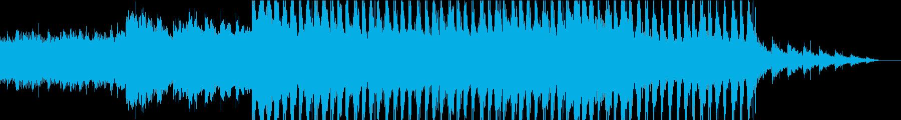 神秘的で怪しげなアンビエントの再生済みの波形