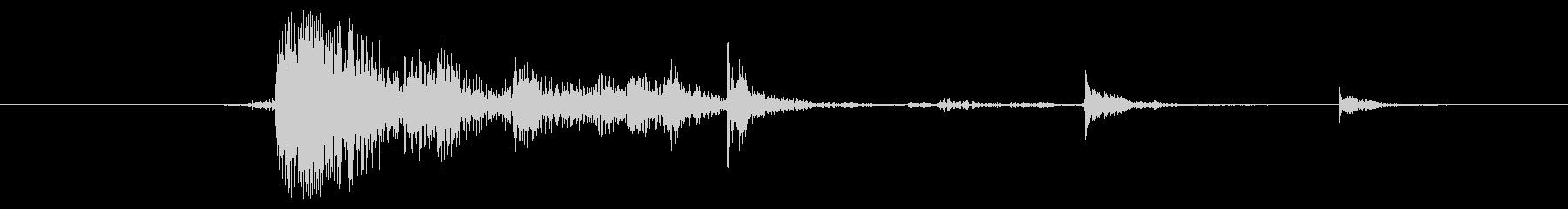 メタル プレートアーマーヒット01の未再生の波形