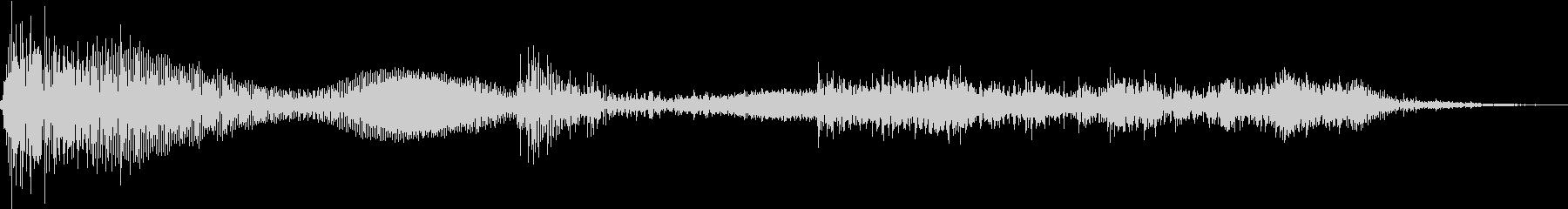 テレンッ(機械的な決定音)の未再生の波形