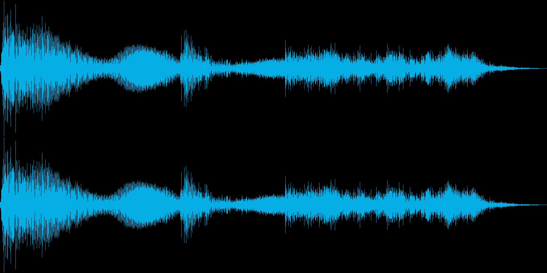 テレンッ(機械的な決定音)の再生済みの波形
