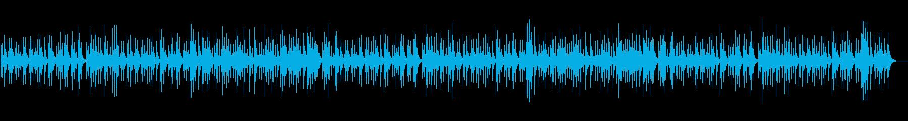 ゆったりとしたオルゴール楽曲の再生済みの波形