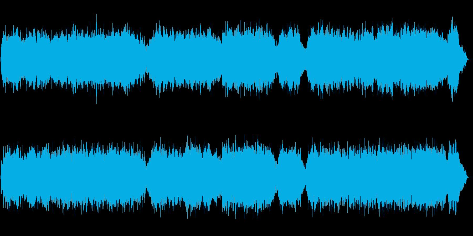 ヴァイオリンの為のアリアの再生済みの波形