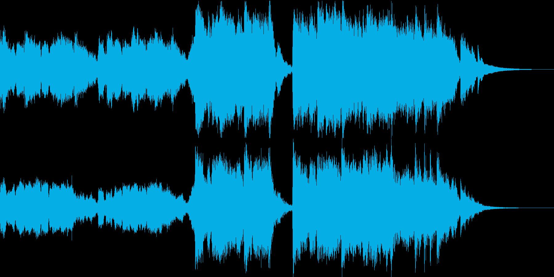 30秒/静かな感じから迫力のオーケストラの再生済みの波形