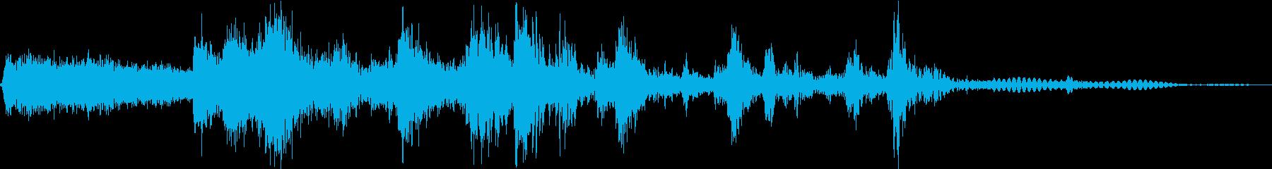 オートスキッド、クラッシュ、ロールを数回の再生済みの波形