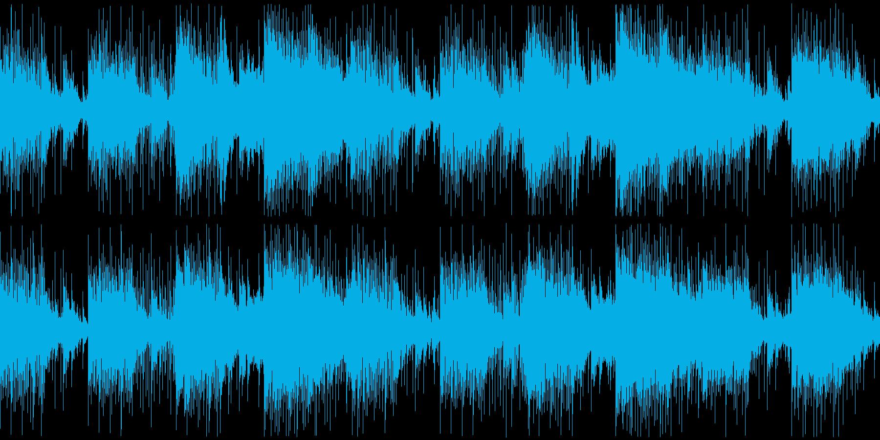 ホラー映画風曲の再生済みの波形