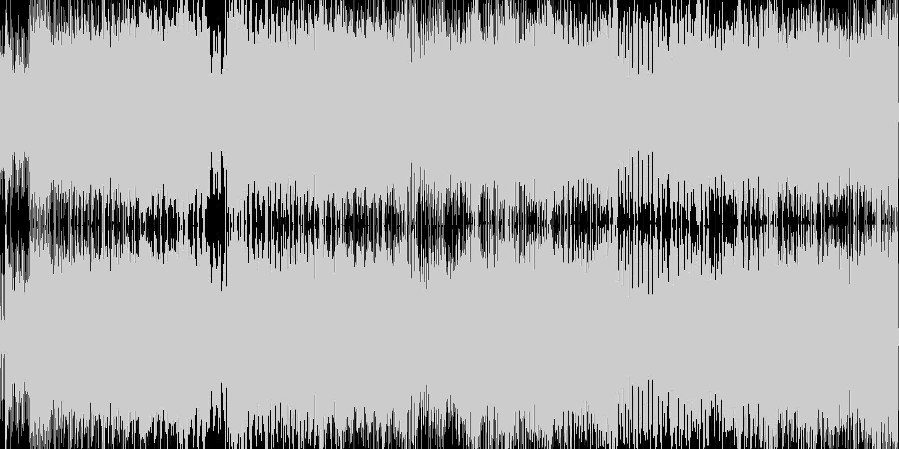 ロックハードでゲーム系BGMループの未再生の波形
