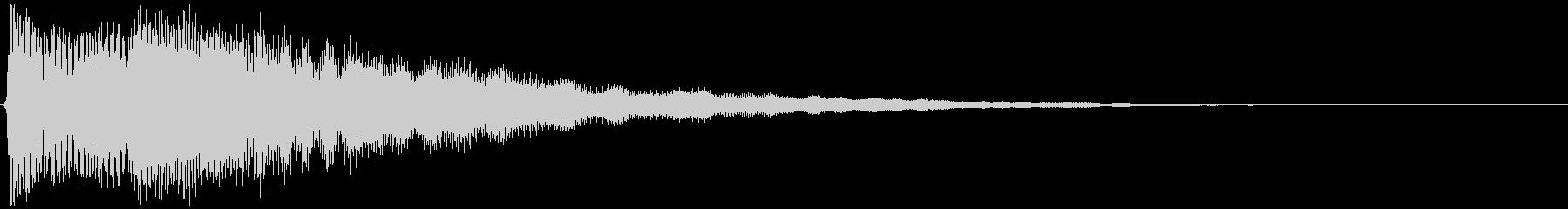 テロップ音など(浮かび上がるイメージ)の未再生の波形