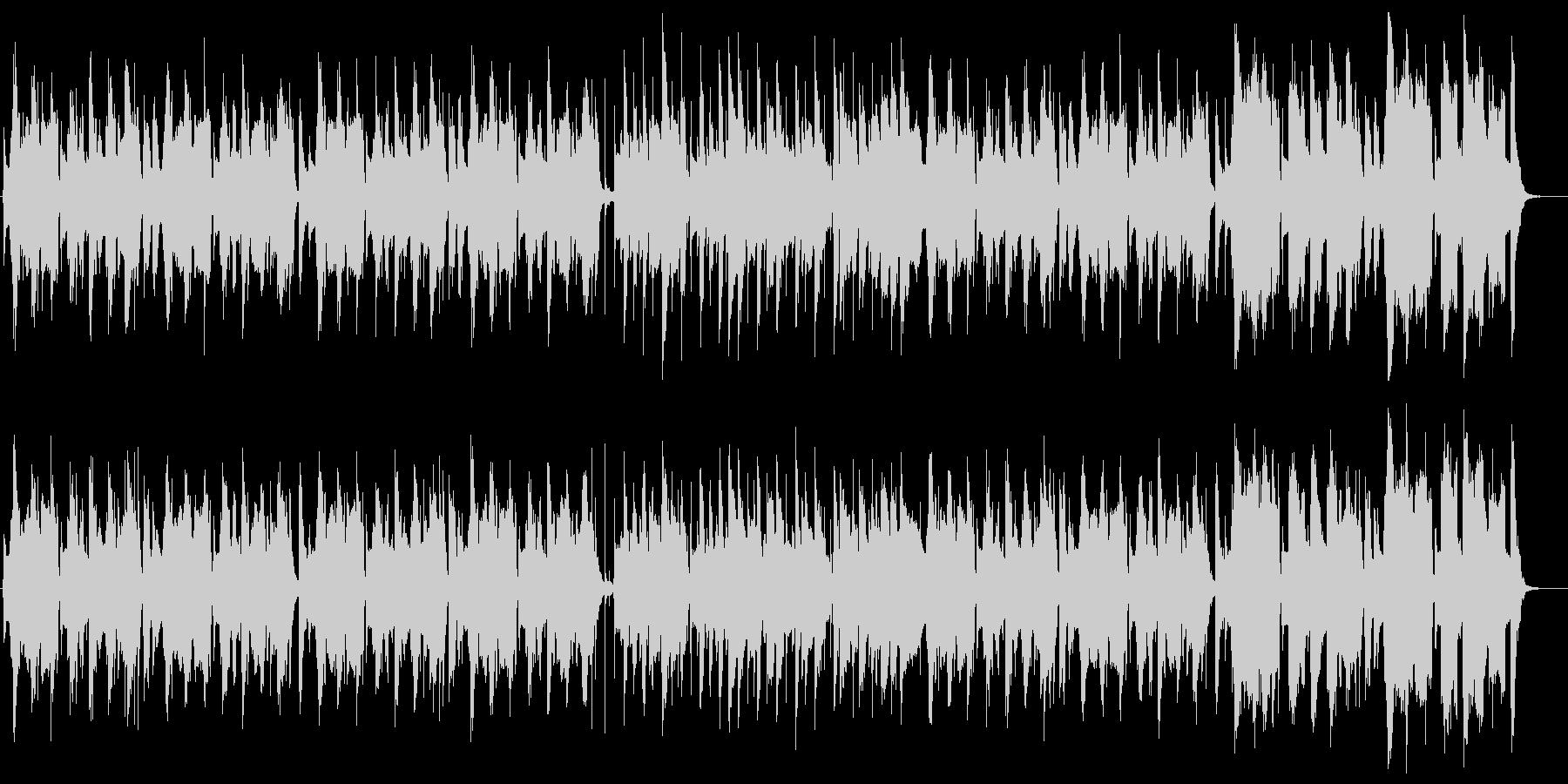 トランペットを使ったコミカルなBGMの未再生の波形