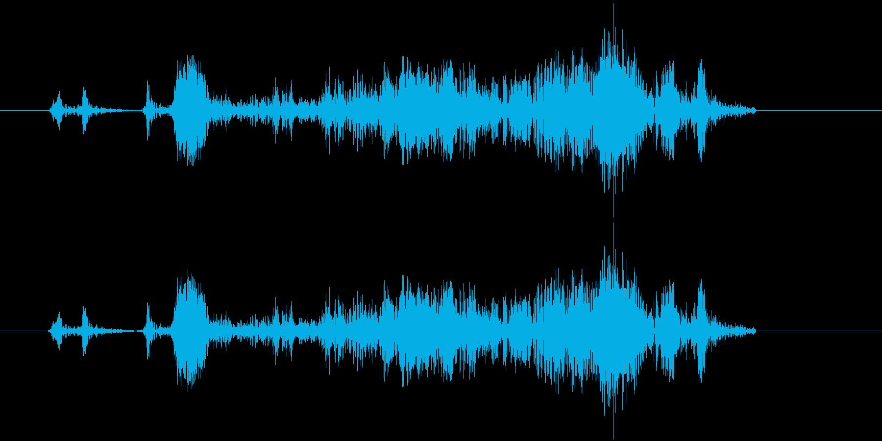 [カメラ] シャッターを切る効果音03!の再生済みの波形
