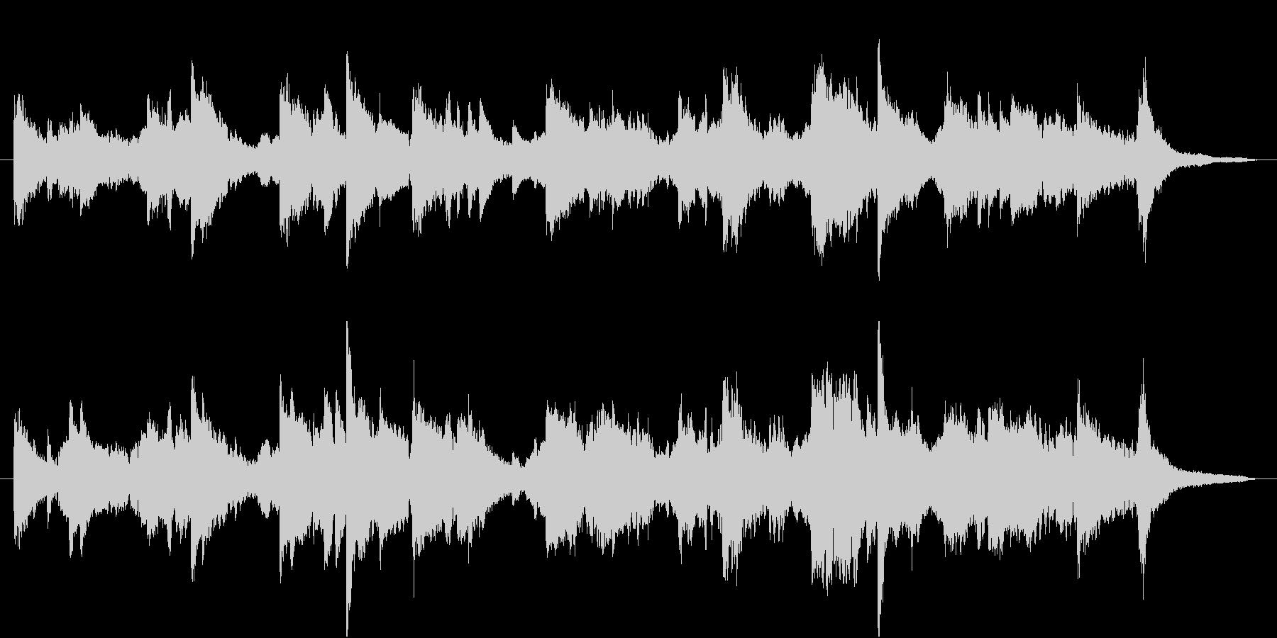 ビオラとピアノの落ち着いたBGMの未再生の波形