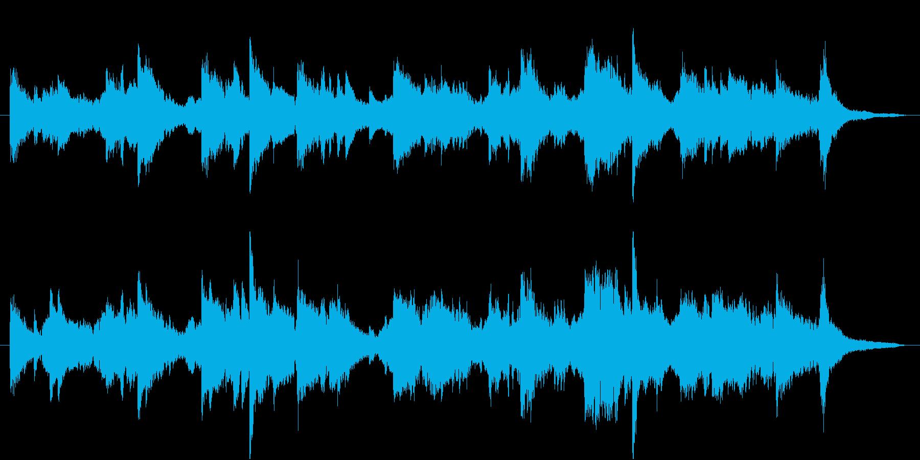 ビオラとピアノの落ち着いたBGMの再生済みの波形