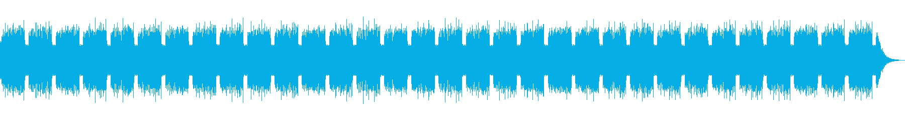 ダイナミックなボスキャラ戦BGMの再生済みの波形