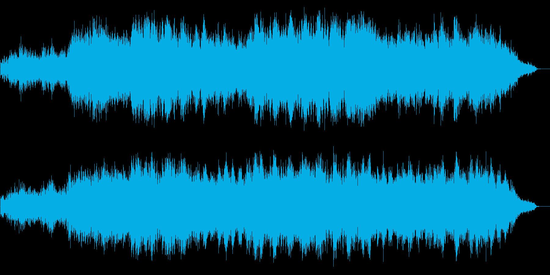 宇宙から見た地球のイメージサウンドの再生済みの波形