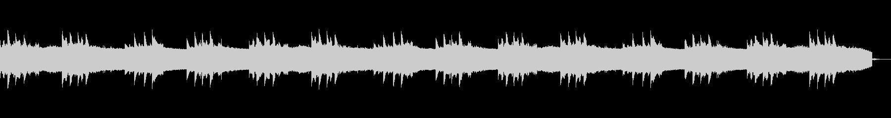 ピアノメインの幻想的で静かなオープニングの未再生の波形