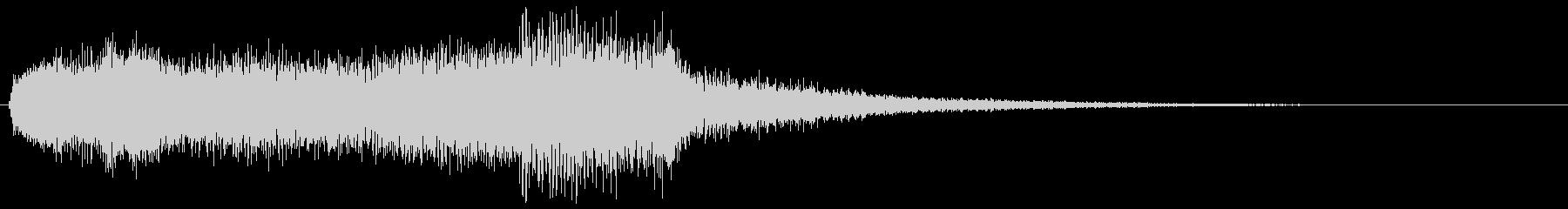ミステリアスな怖いイメージの音 オルガンの未再生の波形