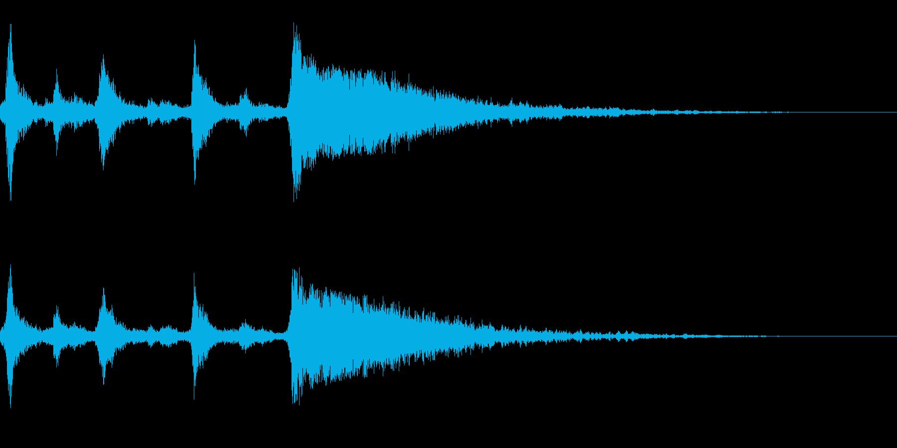 クリスマスのベル、鈴の効果音 ロゴ07の再生済みの波形