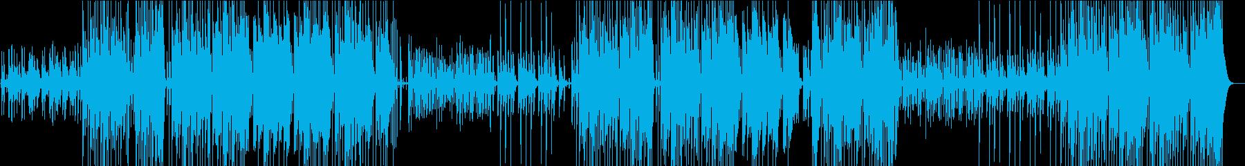 Bassが効いたTrapビートの再生済みの波形