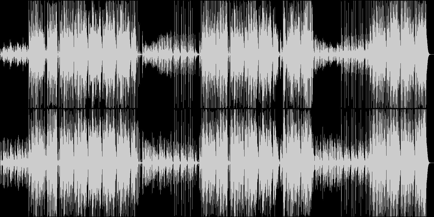 Bassが効いたTrapビートの未再生の波形
