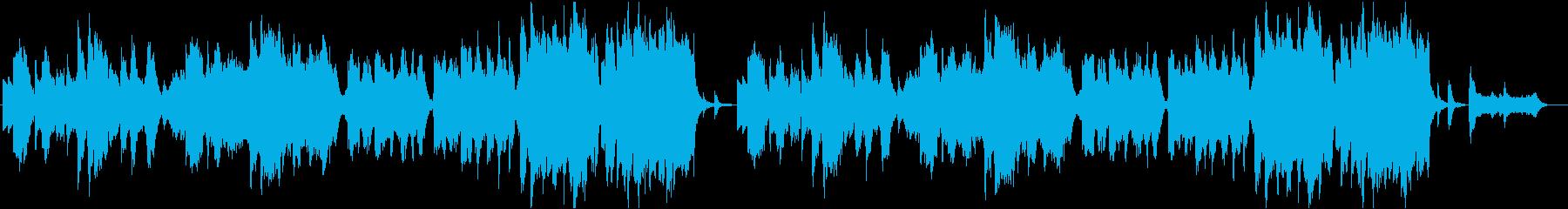 ゆったりした和風の優しい曲の再生済みの波形