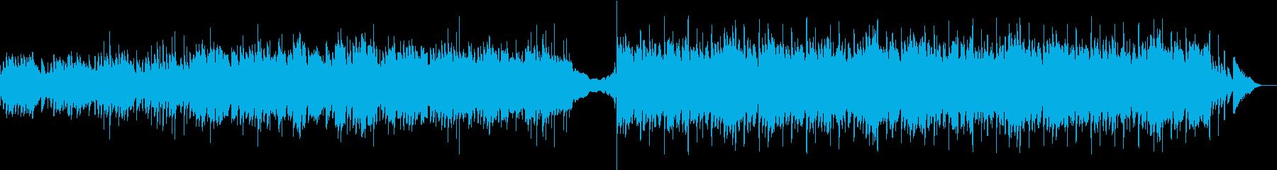 暗いピアノのアルペジオが印象的な劇伴の再生済みの波形