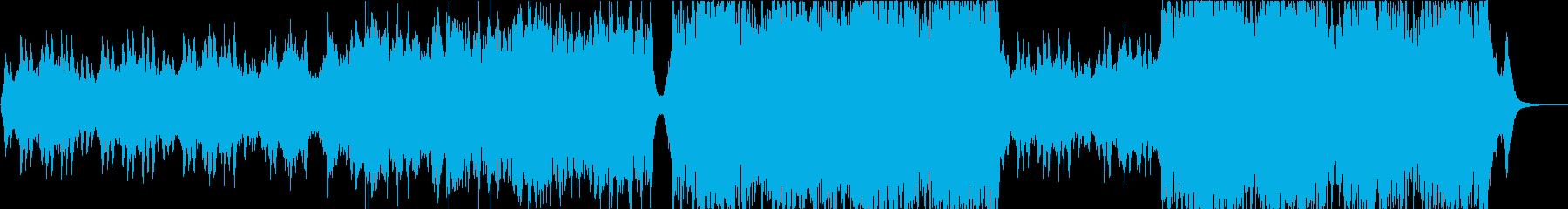 ピアノとオーケストラの感動的な企業PVの再生済みの波形