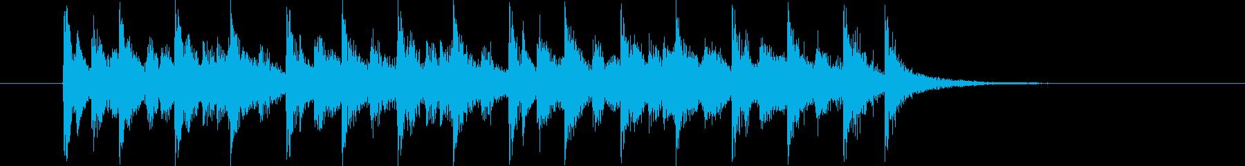 オリエンタルな10秒テクノジングルの再生済みの波形