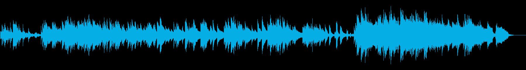 優しい雰囲気の温かいBGMの再生済みの波形