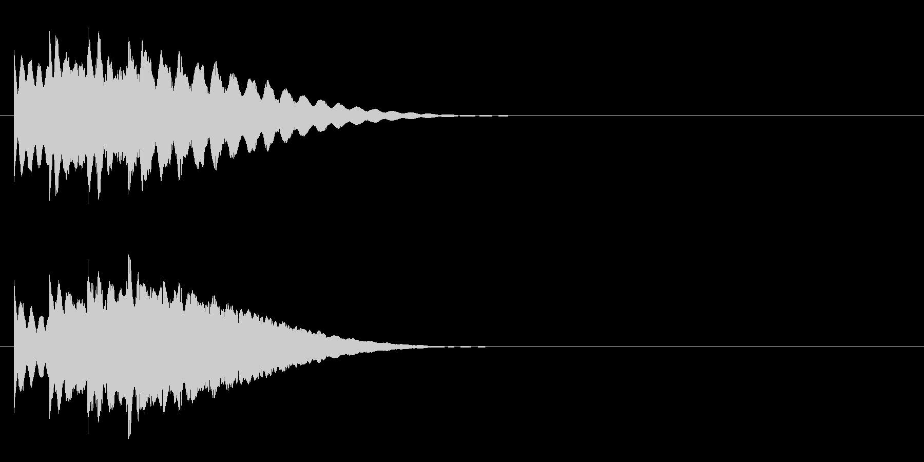 日常系4 ノーマルカード入手 正解の未再生の波形